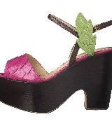 Moschino多彩厚底楔跟凉鞋
