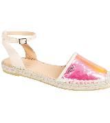 Longchamp粉色凉鞋