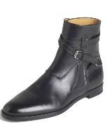 拉夫·劳伦Ralph Lauren黑色高帮皮鞋