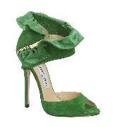 Jimmy Choo KATARINA绿色高跟凉鞋