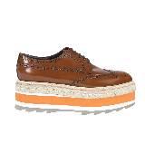 普拉达Prada厚底鞋(橘色)