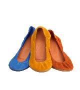 Hermes绒面山羊皮芭蕾舞鞋