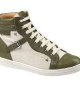 Longchamp珑骧2014初春绿色帆布平底鞋