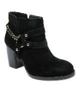 DKNY黑色粗跟短靴
