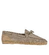 Hermes棉和亚麻帆布便鞋
