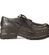 Jean Paul Gaultier高缇耶2013秋冬系列棕色平底鞋