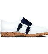 Michael Kors Holiday2015度假系列白色平底皮鞋