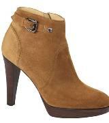 Longchamp珑骧2014初春黄色皮质高跟鞋