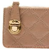 Marc Jacobs双车缝线粉色钥匙包