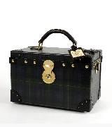 Ralph Lauren复古铜扣饰黑色隐纹手提箱