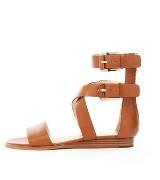 Michael Kors棕色纯皮凉鞋