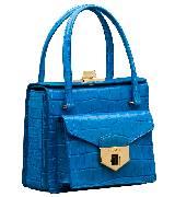 Prada普拉达2014春夏亮蓝色纹理皮质单肩包