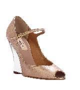 Valentino TIMESTRINGS 粉色坡跟鞋