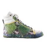 Jean Paul Gaultier高缇耶绿色蛇皮运动鞋