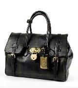 Ralph Lauren复古铜扣饰黑色手袋