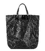 Valentino Garavani 黑色蕾丝手提大号包