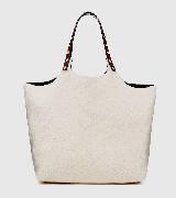 MARNI金属铆钉饰白色购物袋