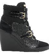 Michael Kors2013秋季系列黑色高跟运动靴