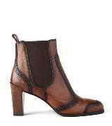 Roger vivier棕色牛皮踝靴
