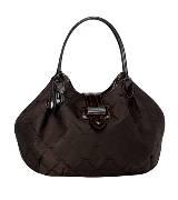 Longchamp珑骧LM布艺版摩卡色手袋