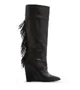 MANGO黑色牛皮长靴