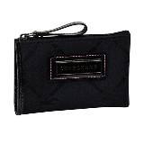Longchamp珑骧LM布艺版黑色钥匙包