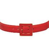 Longchamp珑骧宝石红色腰带