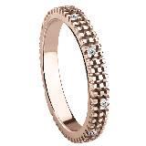 德米亚尼Damiani钻石玫瑰金指环
