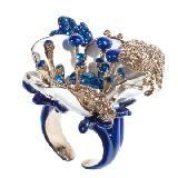 罗伯特-卡沃利(Roberto Cavalli)2013年春季绚丽蓝色花朵戒指