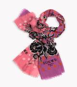 Loewe罗意威100%丝绸印花丝巾