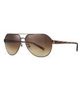 CK Calvin Klein棕色金属框眼镜