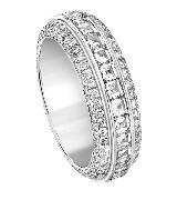 Piaget伯爵钻石白金结婚戒指