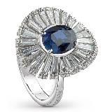 德米亚尼Damiani钻石蓝色戒指