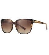 CK Calvin Klein棕色牛角纹理眼镜