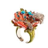 罗伯特-卡沃利(Roberto Cavalli)2013年春季炫彩花朵戒指