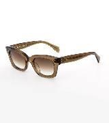 Celine赛琳2013春夏深棕色透明粗边框太阳镜