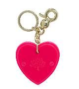 Mulberry粉红色心形钥匙扣