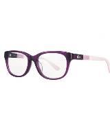 LACOSTE法国鳄鱼紫色圆框眼镜