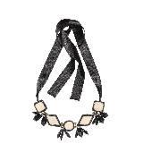 MARNI玛尼裸色几何形宝石项链
