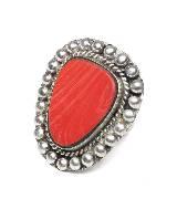 MANGO复古人造石戒指