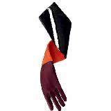 Roger vivier紫红黑拼色麂皮手套