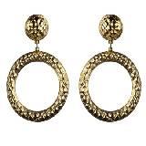Moschino金色耳环