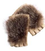 Roger vivier米色毛皮手套