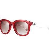 LACOSTE法国鳄鱼L!VE红色条纹眼镜