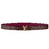 Louis Vuitton经典枚红色花纹腰带