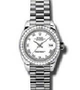 劳力士(Rolex)日志型179136 白色珍珠母表盘/镶钻表带