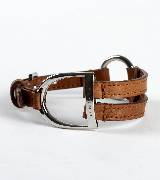 拉夫·劳伦Ralph Lauren棕色皮质腰带