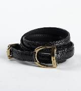拉夫·劳伦Ralph Lauren黑色皮质腰带