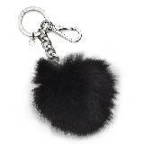 Michael Kors 2012假日系列黑色毛球钥匙扣