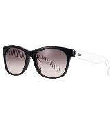 LACOSTE法国鳄鱼L!VE黑色条纹眼镜